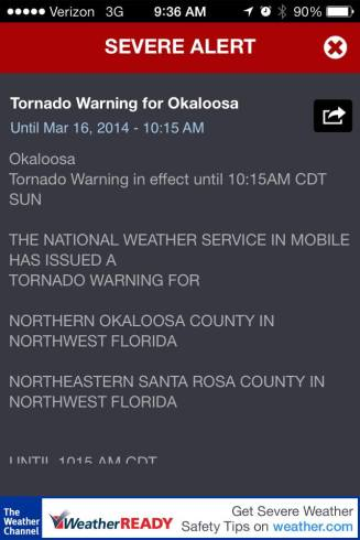 Tornado Warning Okaloosa
