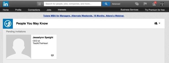 LinkedIn invitation.
